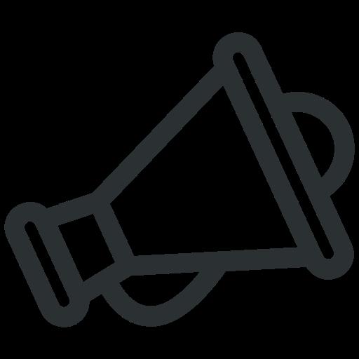 advertising, announcement, bullhorn, business, megaphone icon icon