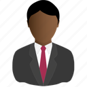 black, business, man icon