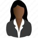 black, business, woman icon