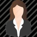 business, darkblond, woman icon