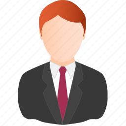 business, man, red icon