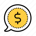 amount, bill, cash, coin, money, payment icon