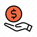 billing, cash, coin, dollar, money, payment icon
