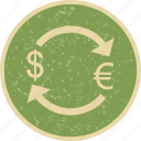 convert, dollar, euro, exchange icon