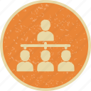 group, hierarchy, organization, team icon