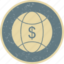 currency, dollar, finance, world icon