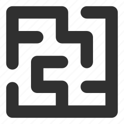 game, labyrinth, maze, problem, solution, strategy, way icon