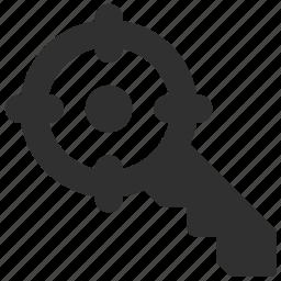 key, keyword, keyword targeting, search, target, targeting icon