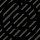 analitics, chart, donut, statistic icon