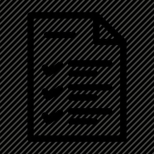 business, checking, list, management, planning, schedule, task icon