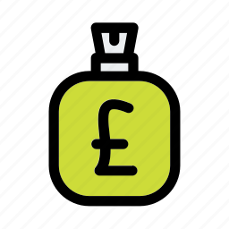 bag, bank, business, currency, finance, money, pound icon