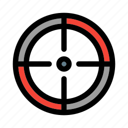 aim, business, finance, focus, shooting, sniper, target icon