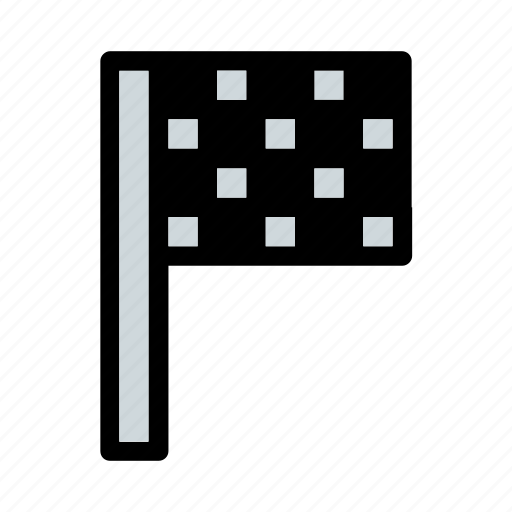 business, end, finish, flag, race, square, target icon