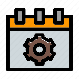 business, calendar, managment, planning, preference, setting, time icon