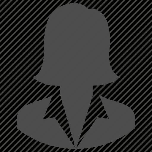 account, avatar, business, person, profile, user, woman icon