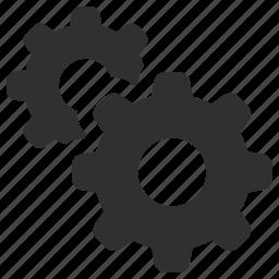 cogs, cogwheel, gear wheels, gears, optimization, productivity, settings icon