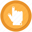 finger, hand, point, push icon