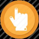 finger, hand, point, push icon