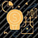 innovation, diagram, investment, lightbulb