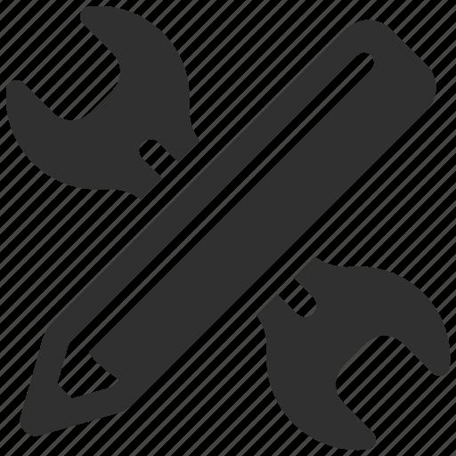 design, design tools, graphic design, pen, pencil, tools, wrench icon
