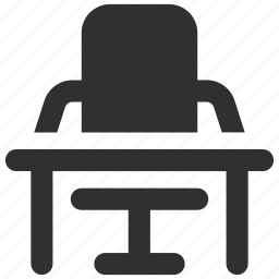 desk, office, office chair, office desk, table, workplace, workspace icon