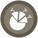 chart, diagram, graph, infographic, pie chart, pie graph icon