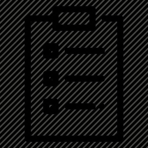 check, checklist, document, form, list, mark icon