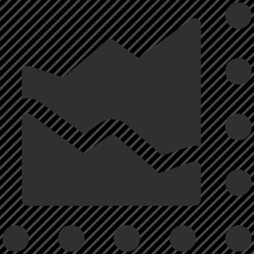 business chart, business graph, chart, finance, graph, mountain chart icon