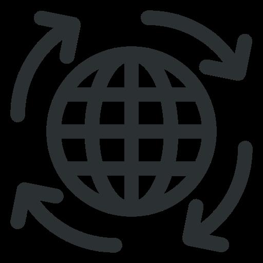 arrow around world, arrow on globe, globe, globe arrow, globe with arrow icon icon icon
