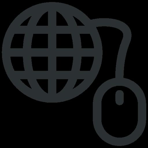 globe, internet, mouse, ppc, seo icon icon