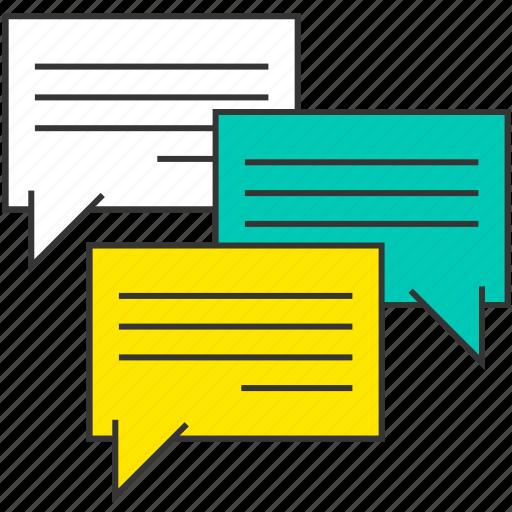 chat, communication, message, social, speech bubble, talk icon