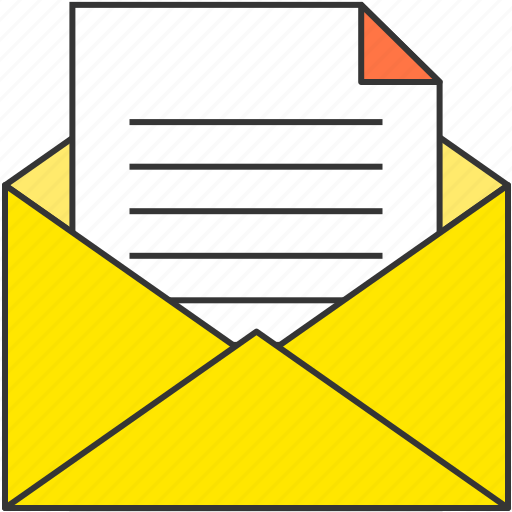 document, email, file, mail, memo, office, paper icon