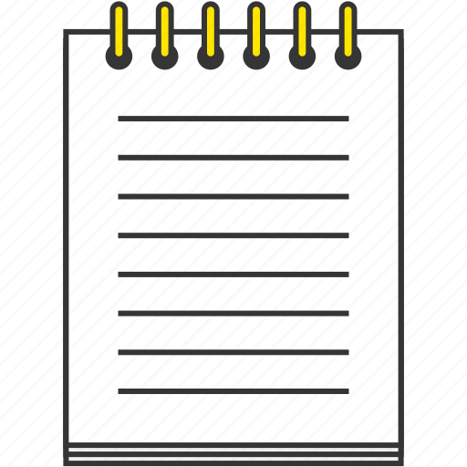 memo, note, notebook, office, paper icon