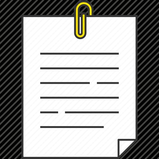 clip, document, memo, office icon