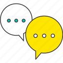 chat, communication, message, social, speech bubble, talk icon