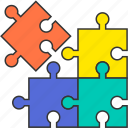diagram, game, jigsaw, piece, puzzle, solution icon