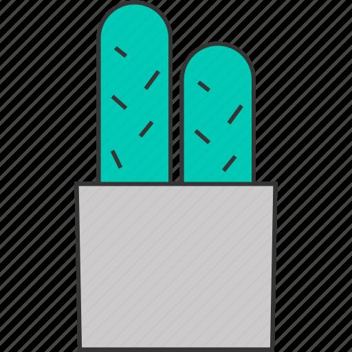 cactus, desert, flower pot, nature, plant, pot icon