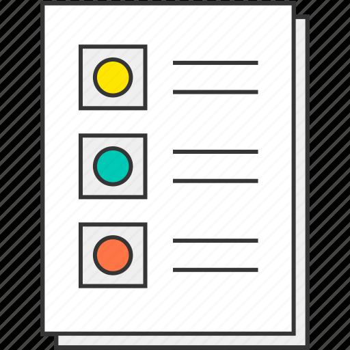 checklist, document, file, report, to do list icon
