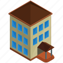 apartment, architecture, building, businesses, estate icon