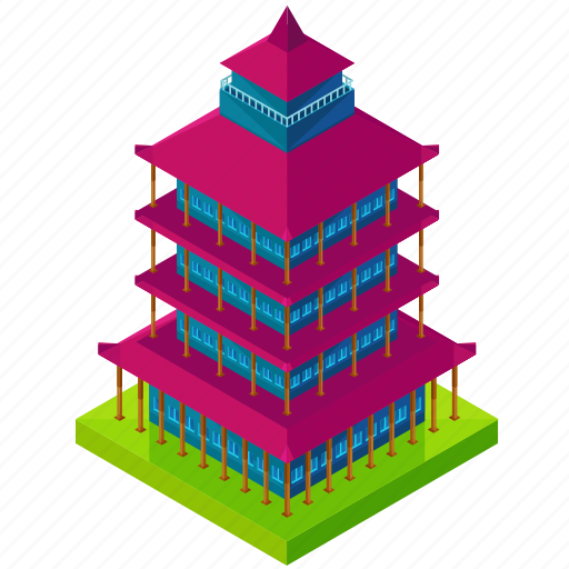 architecture, asian, building, businesses, tower icon