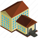 architecture, building, businsses, college, estate, home icon