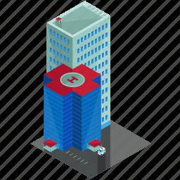 building, businesses, estate, hospital, skyscraper icon