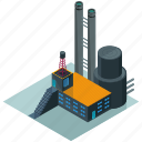 architecture, building, businesses, estate, factory, large, tower icon