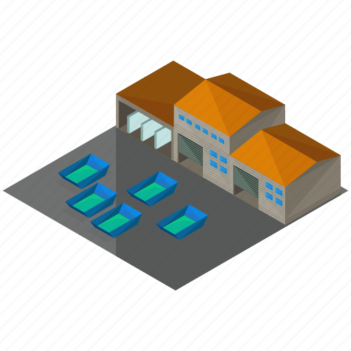 building, businesses, estate, storage, warehouse icon