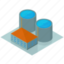 architecture, building, businesses, facility, tower, water icon