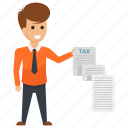 assets and liabilities., income tax, tax invoice, tax payment, threat icon