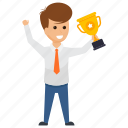 best businessman, business achievement, reward gained., successful businessman, successful entrepreneur icon