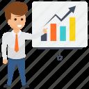 business evaluation, commerce assessment, economic factors., finance evaluation, sales of a business icon