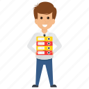 business pressure, business project files, employer workload, to-do task, work pressure icon
