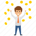 business profit, earn money, gained profit, money is king, trade growth. icon